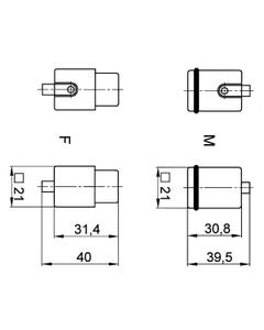 H-Q 5 SC MALE INSERT
