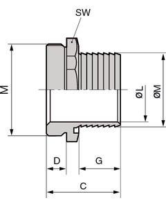 SILVYN SSV-M 12 X 1.5/2