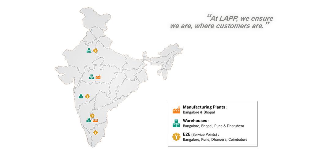LAPP India Pan India Presence