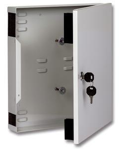 Dist. plate 12xSC-duplex RAL7035 w. fast